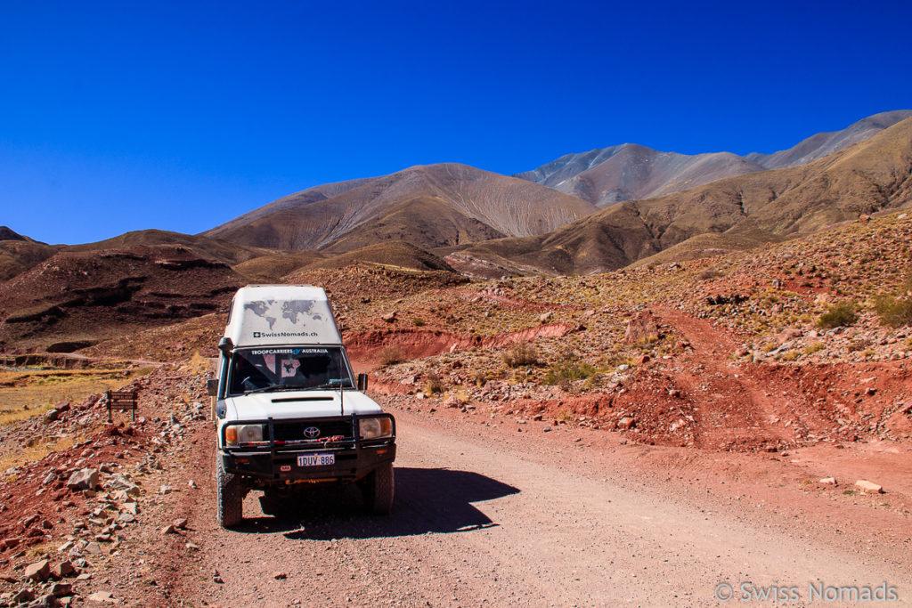 Rote Berge bei La Poma
