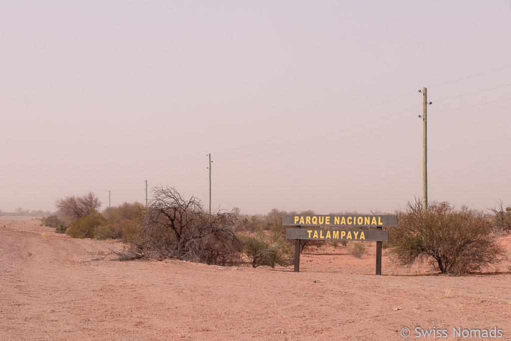 Talampaya Nationalpark im Sandsturm