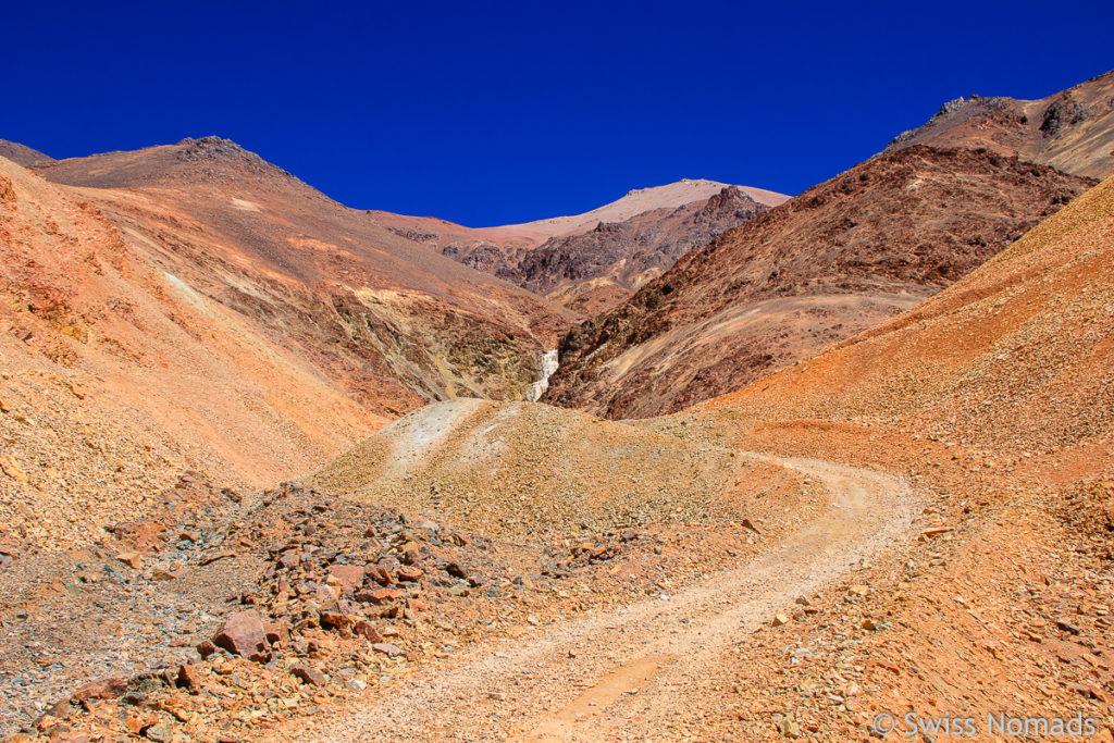 Track zum Wasserfall bei der Mina La Mejicana