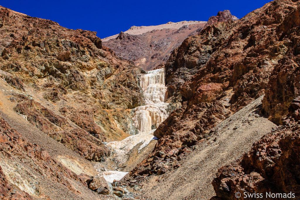 Wasserfall bei der Mine La Mejicana