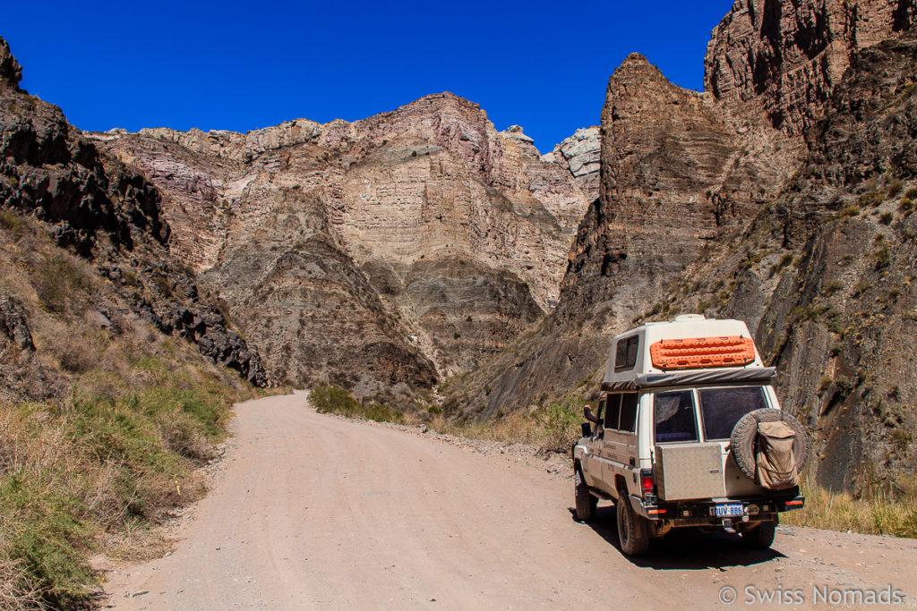 Ruta Provincial 173 durch den Atuel Canyon