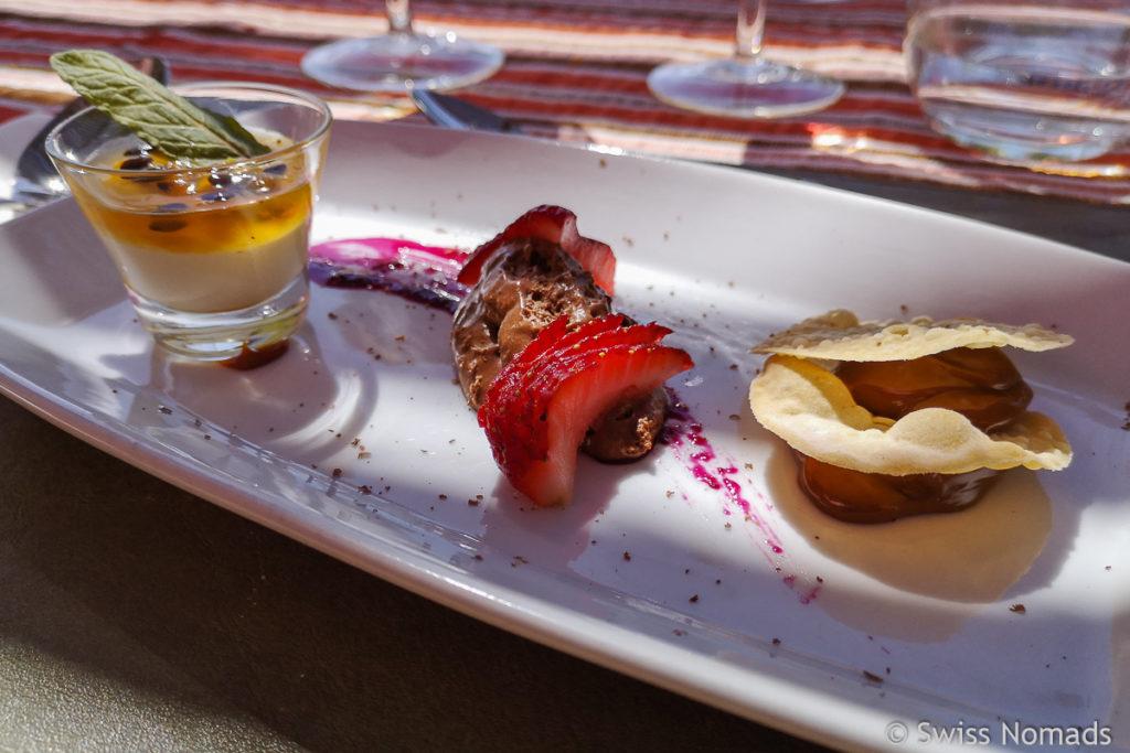 Dessert bei Ojo de Agua in Mendoza
