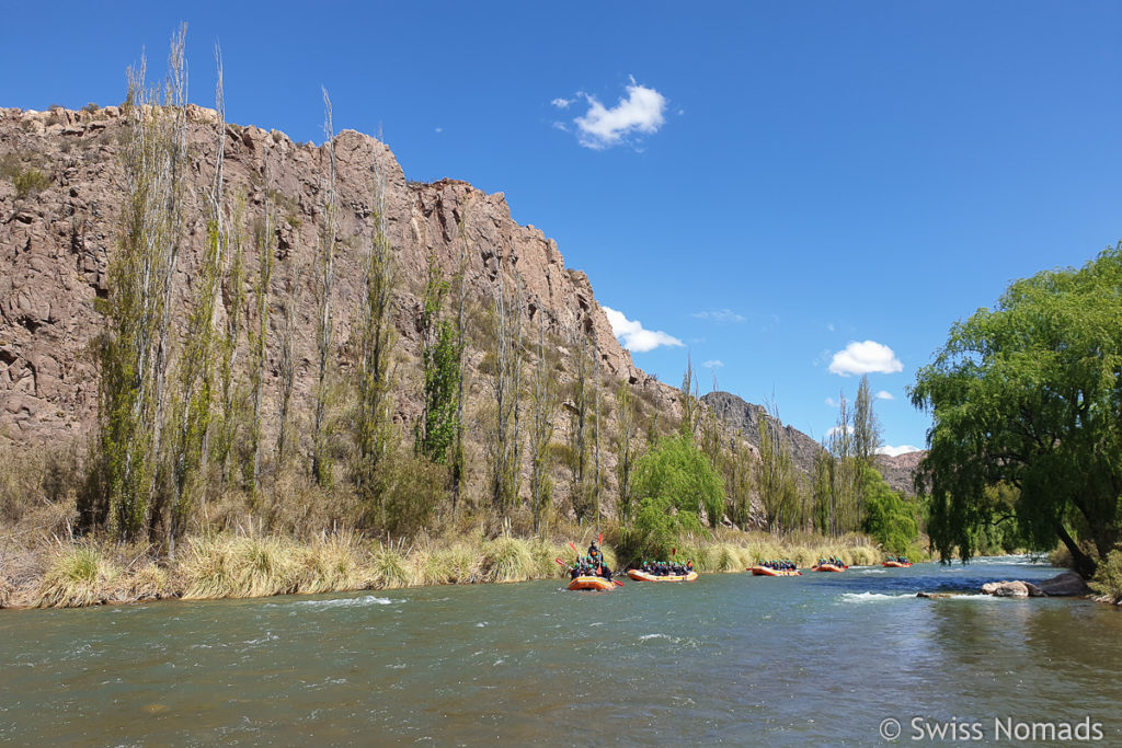 River Rafting auf dem Atuel Fluss