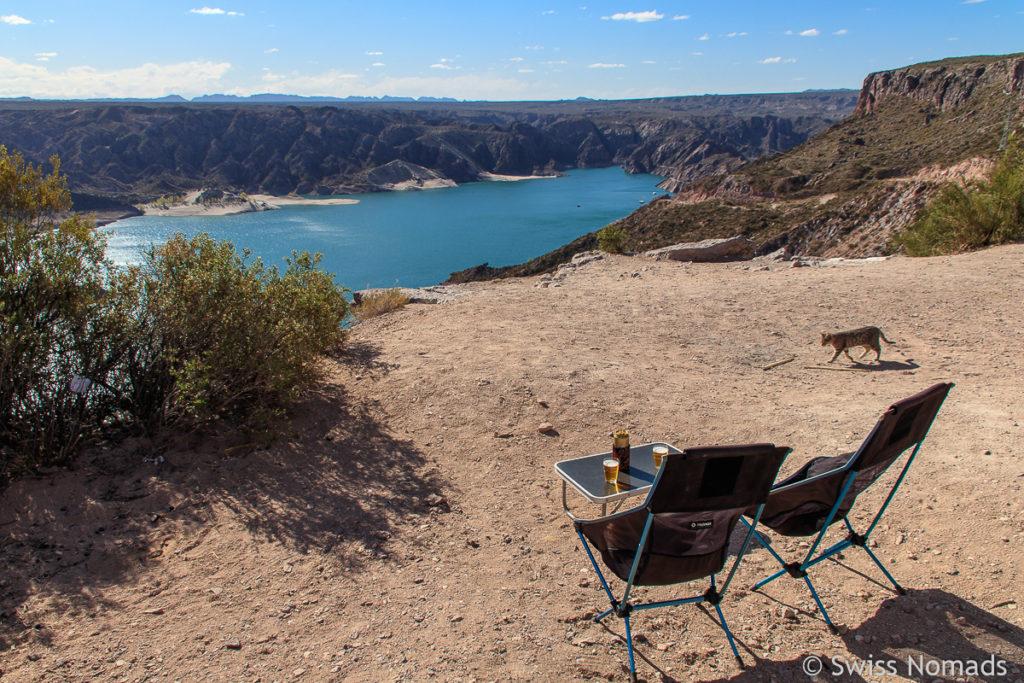 Sitzplatz am Valle Grande