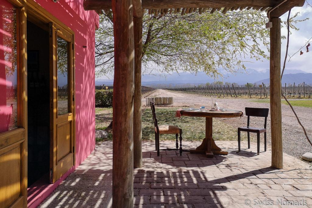 Veranda des Restaurants von Ojo de Agua