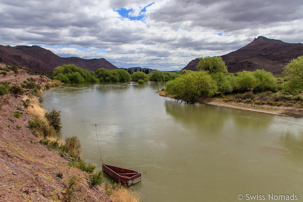 Rio Chubut in Argentinien