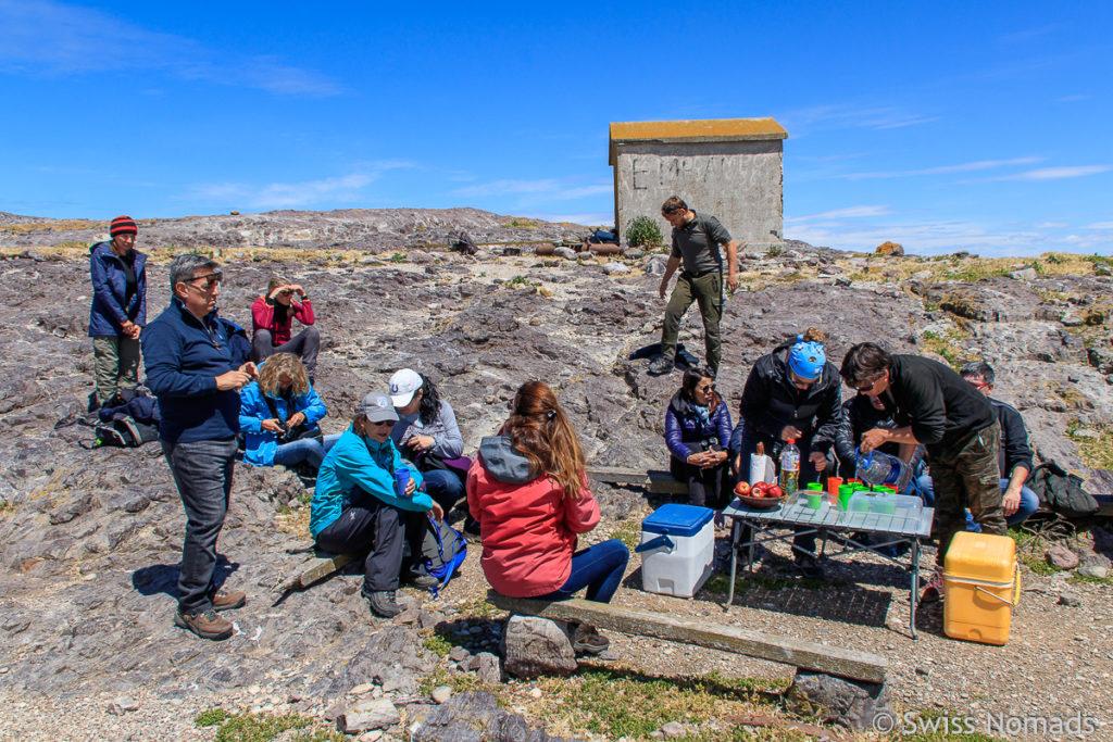 Mittagessen Bootstour Puerto Deseado
