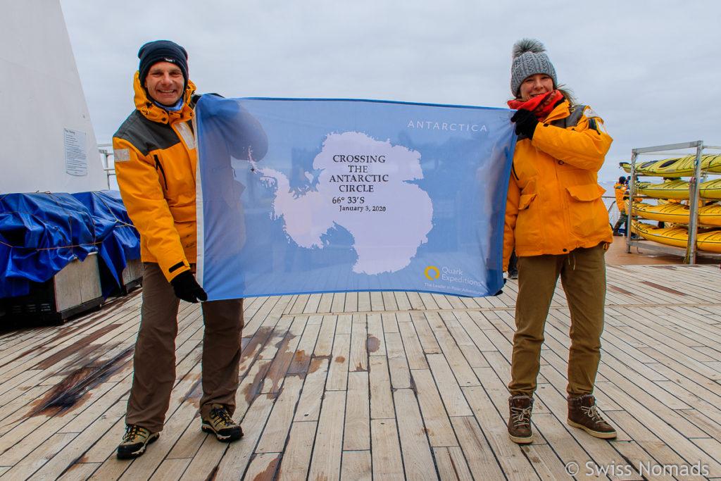 Antarktischer Polarkreis erreicht