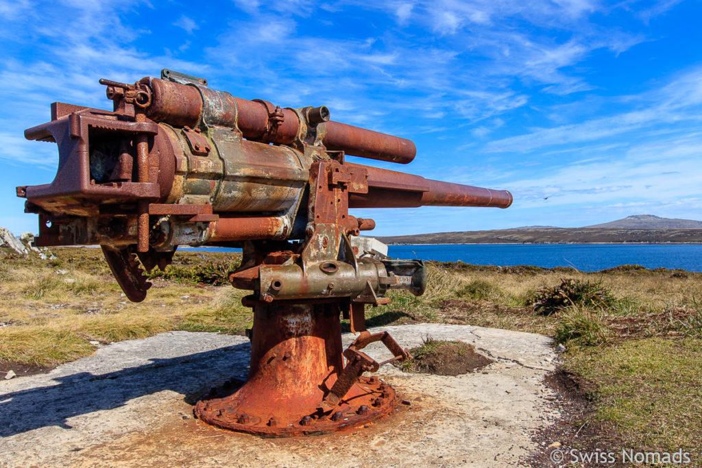 Kanone auf den Falklandinseln
